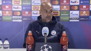 Pep Guardiola, en rueda de prensa antes de enfrentarse al PSG