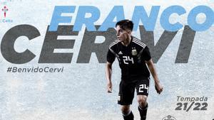 El argentino Franco Cervi, primer fichaje del Celta