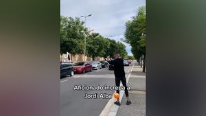 ¿Qué tipo de aficionado es este? Así insulta a Jordi Alba... ¡y el futbolista responde!