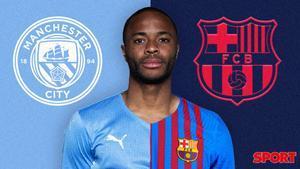 Sterling, loco por venir al Barça