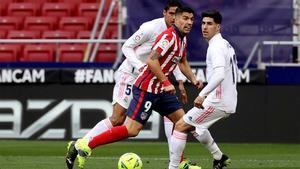 Suárez, autor del primer gol del Atlético