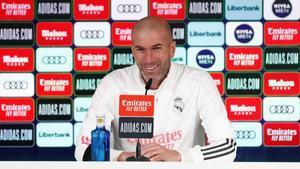 Zidane comparece en la sala de prensa de la Ciudad Deportiva de Valdebebas