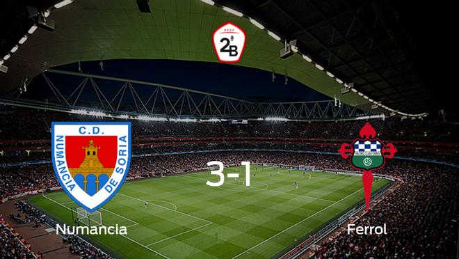 Tres puntos para el equipo local: Numancia 3-1 Racing Ferrol