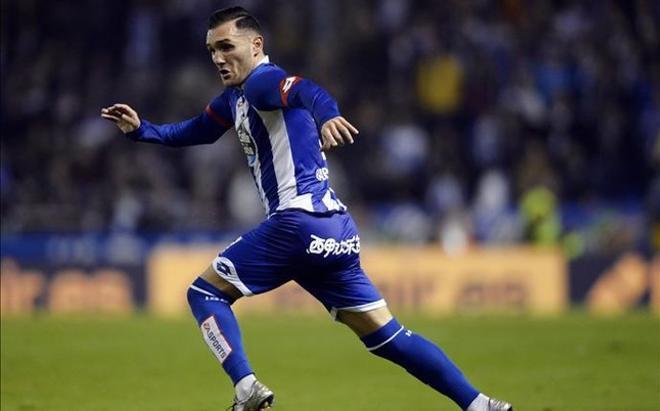 Lucas Pérez, elogiado por el técnico del Deportivo