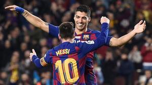 Leo Messi y Luis Suárez quieren seguir celebrando muchisimos más goles juntos
