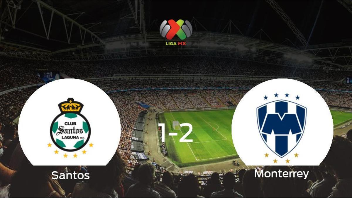El Monterrey aprovecha la segunda parte para ganar al Santos Laguna (1-2)
