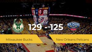 Milwaukee Bucks se hace con la victoria contra New Orleans Pelicans por 129-125
