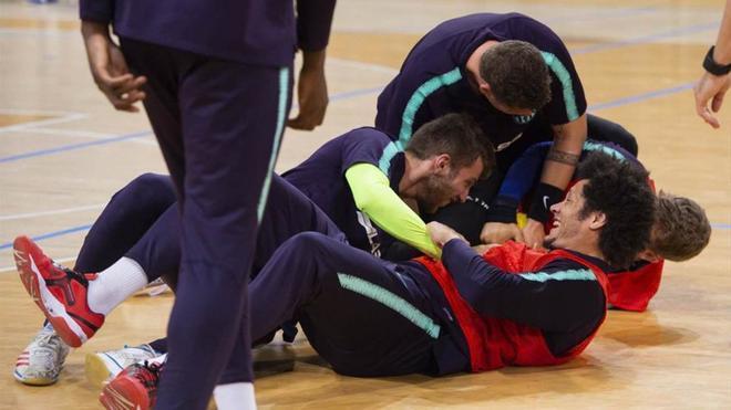 El Barça Lassa volvió a demostrar el buen rollo que reina en el equipo