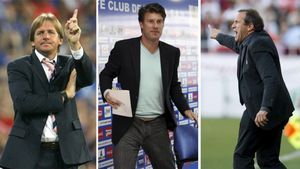 Schuster, Laudrup y Víctor, cuando eran entrenadores del Getafe