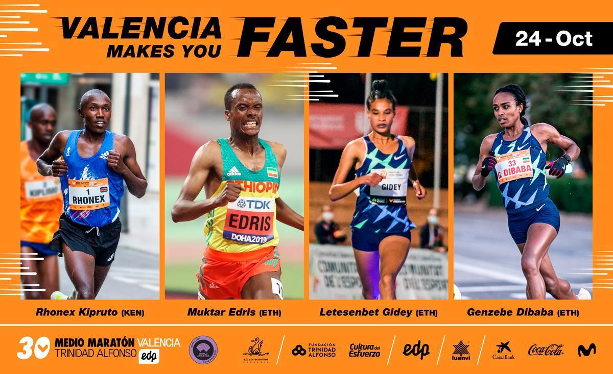 El Medio Maratón Valencia avanza su élite internacional a la caza de nuevos récords