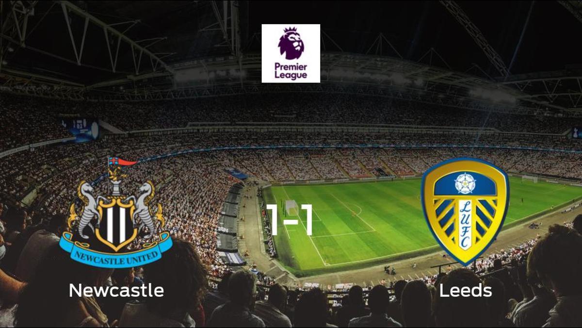 El Newcastle United salva un punto frente al Leeds United (1-1)