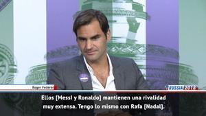 Federer compara la rivalidad entre Messi y Cristiano con la suya con Nadal
