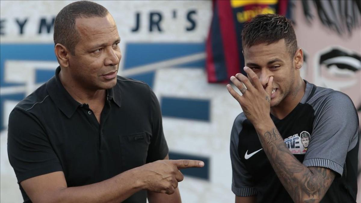 Neymar y su padre