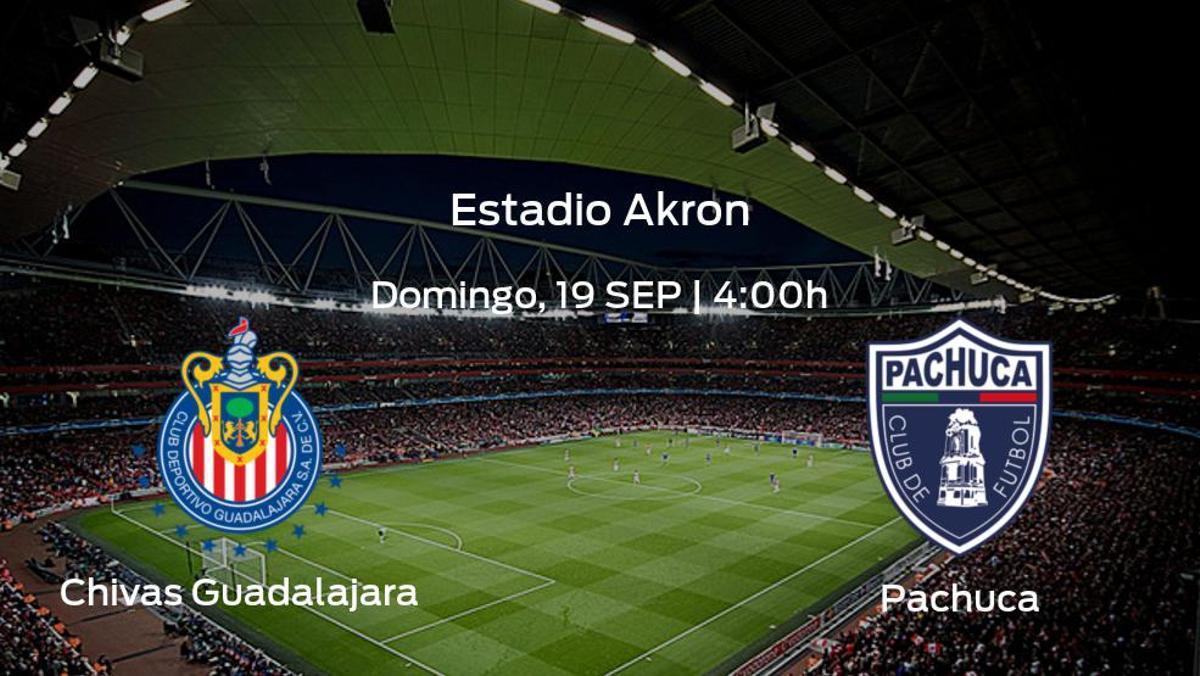 Jornada 9 de la Liga MX de Apertura: previa del encuentro Chivas Guadalajara - Pachuca