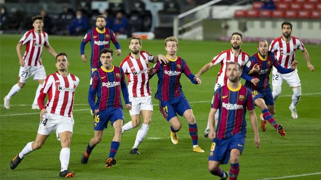 Athletic y Barça, a una semana de la final de Copa