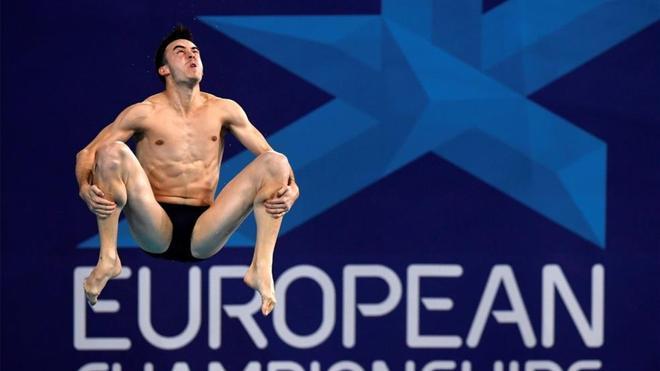 Alberto Arévalo, en los Campeonatos Europeos de Glasgow 2018.
