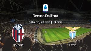 Previa del partido: el Bolonia recibe a la Lazio en la vigésimo cuarta jornada