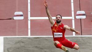 Eusebio Cáceres se quedó a tres centímetros del bronce