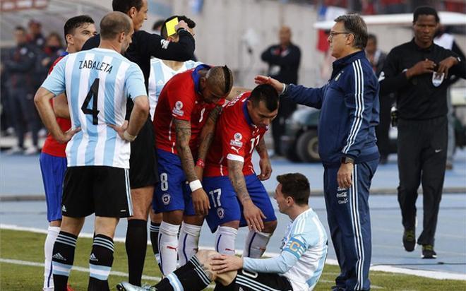 Agreden a la familia de Messi durante la final de la Copa América