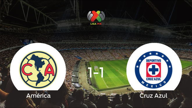 El América y el Cruz Azul concluyen su encuentro liguero con un empate (1-1)