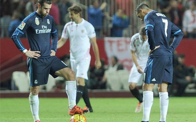 Decepción en los jugadores del Real Madrid