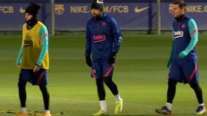 El Barça entrena antes de enfrentarse al Athletic