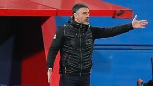 El técnico del filial, García Pimienta, uno de los equipos que jugará en la nueva categoría