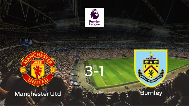 El Manchester United consigue la victoria en casa frente al Burnley (3-1)
