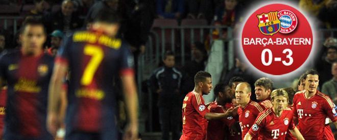 El Barça, eliminado sin paliativos