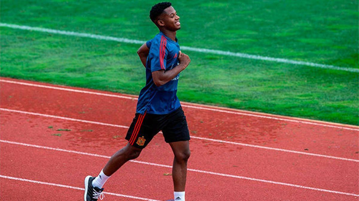 Así han sido los primeros días de Ansu Fati con la selección Sub-21