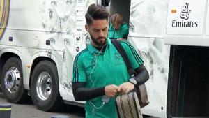 LALIGA   Isco llegó serio al Santiago Bernabéu