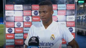Vinicius: Tenemos muchos jugadores que hacen goles para nosotros