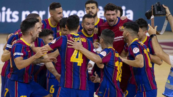 El Barça celebró su clasificación para la final