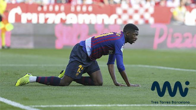Así fue la jugada en la que se lesionó Dembélé