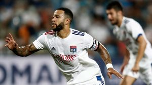 Depay, jugador del Lyon