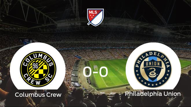 El Columbus Crew y el Philadelphia Union concluyen su enfrentamiento en el MAPFRE Stadium sin goles (0-0)