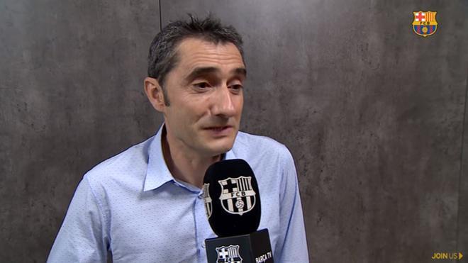 Ernesto Valverde, entrenador del FC barcelona, en la entrevista concedida a Barça TV