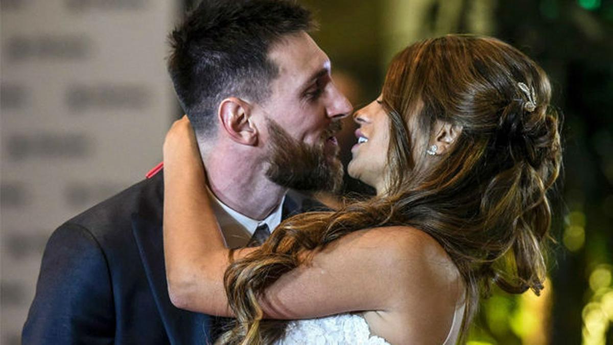 Así se dieron el sí quiero Messi y Antonela