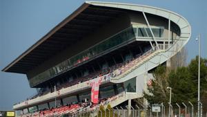 Imagen de archivo de una de las tribunas del Circuit
