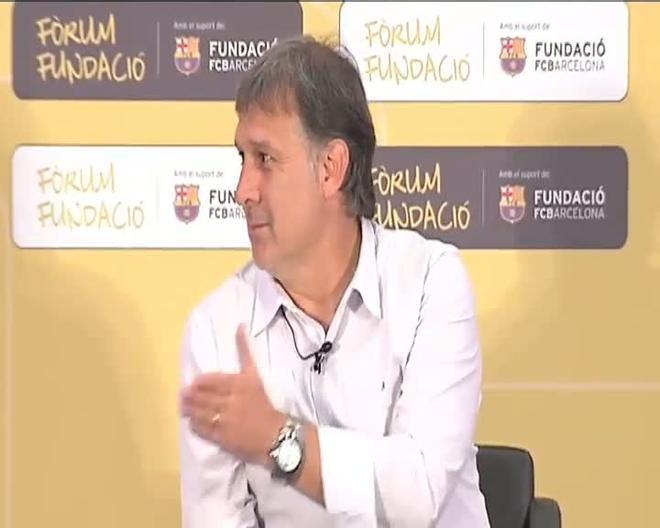 Martino habló largo y tendido de sus experiencias en el Barça