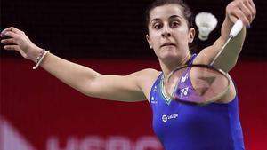 Carolina Marín, durante su partido