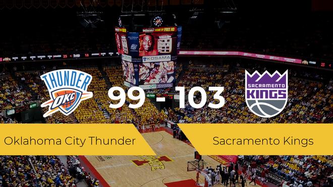 Sacramento Kings se hace con la victoria contra Oklahoma City Thunder por 99-103