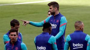 El último entrenamiento del Barça antes de la final de la Copa del Rey