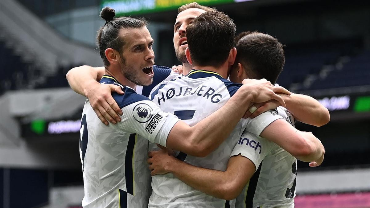 El Tottenham celebrando la victoria