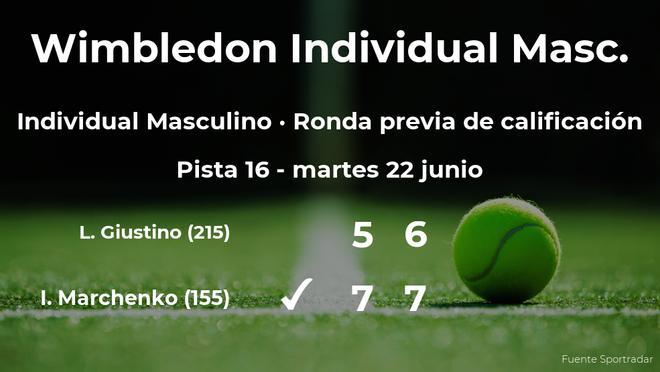El tenista Illya Marchenko pasa de ronda de Wimbledon