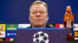 Koeman, durante la rueda de prensa previa al Barça-Dinamo de Kíev