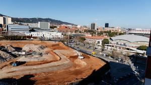 Las obras de demolición del Miniestadi, la Barça Escola y la Passarela ya llegan a su fin