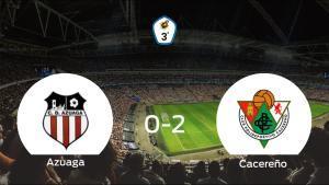 El Cacereño suma tres puntos a su casillero ante el Azuaga (0-2)