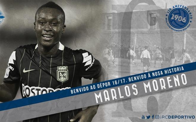 Marlos Moreno es por ahora la última incorporación de un Deportivo con muchas caras nuevas