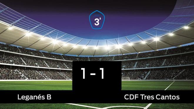 El Tres Cantos consigue un empate a uno ante el Leganés B
